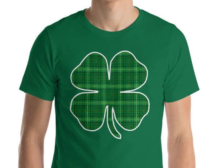 Shamrock 4 leaf clover Texture shirt St Patrick's Day t-shirt | BelDisegno