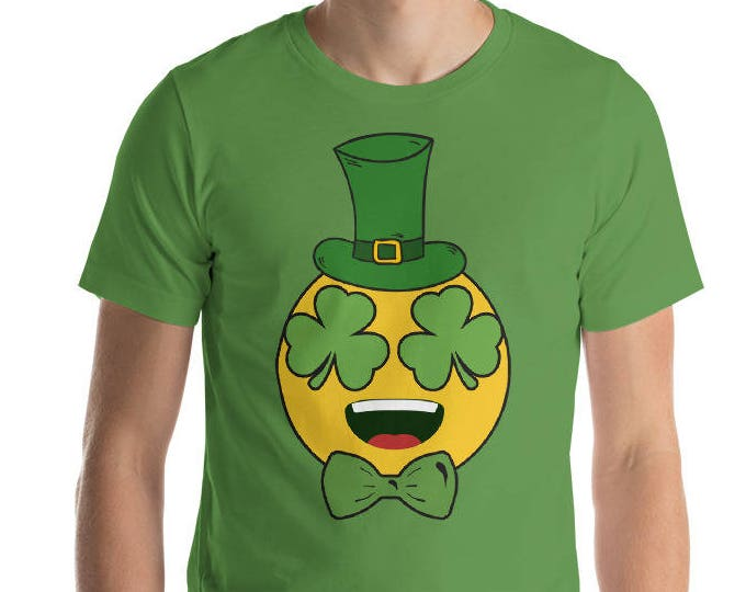 St Patrick's Irish Emoji Shirt - St Patrick's Day shamrock Shirt