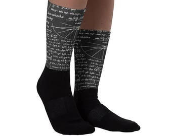 Math lover - Math Teacher Gift - Math Equation Cool Quadratic Formula Geek Nerd Socks - Math Socks - gift for math nerd | BelDisegno