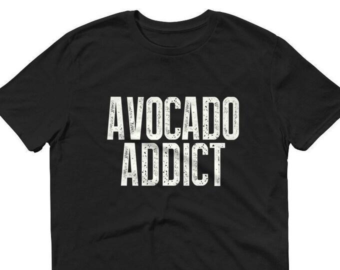 Avocado Addict t-shirt, avocado shirt, avocado gift, avocado lover, avocado t shirt, vegetarian, vegan shirt , avocado lover gift