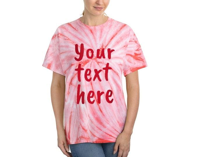 Personalized Tie-Dye Tee, Custom Tie Dye Cyclone Shirt