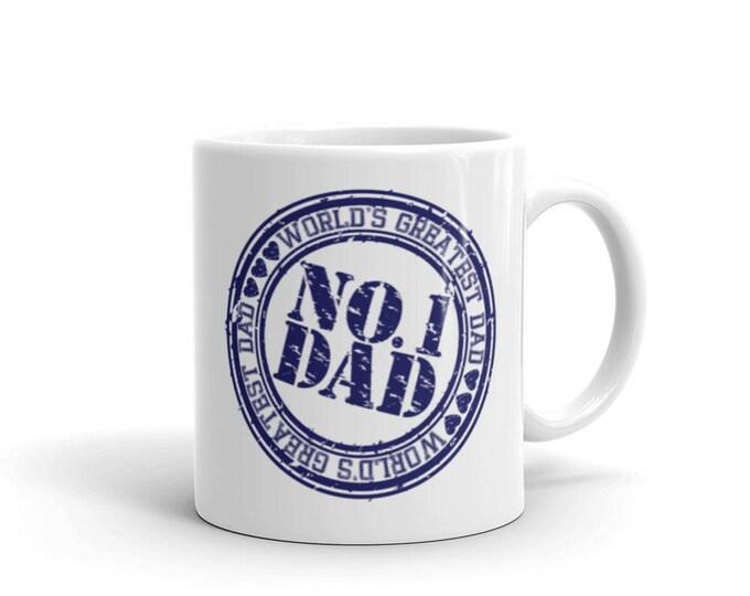 NO.1 Dad , World's Greatest Dad Coffee Mug