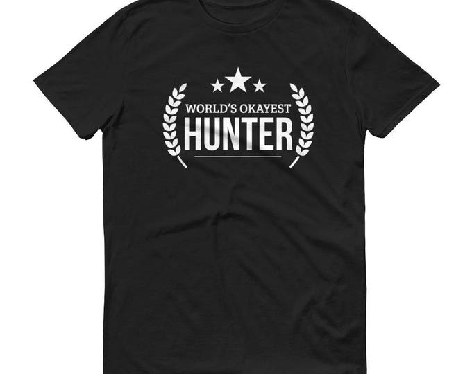 Hunter shirt,  World's Okayest Hunter t-shirt - hunting gifts for boyfriend, hunters gift, gift for hunter, duck hunter