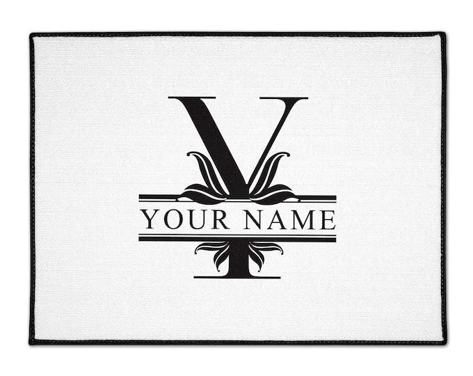 Custom Indoor/Outdoor Floor Mats, Personalized Dog Cat Doormat, Personalized Doormat Rug With Family Name Initial Monogram 18 X 24 X 36 X 60