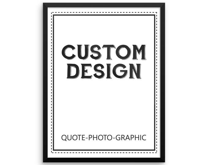 Custom poster print - Personalized Portrait Poster print - custom photo poster Map Poster