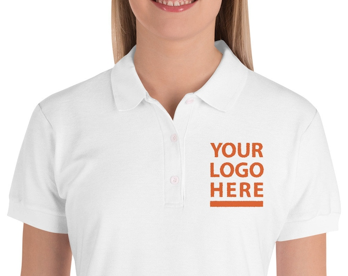 Embroidered Women's Polo Shirt - Performance Polo Shirts - Personalized Collar Embroidery Tees embroidered business polo shirts | BelDisegno