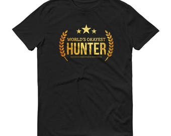 Hunter gifts, Men's World's Okayest Hunter t-shirt - unique funny hunting gifts for hunters