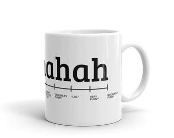 Funny Hahaha Scale Coffee Mug | BelDisegno