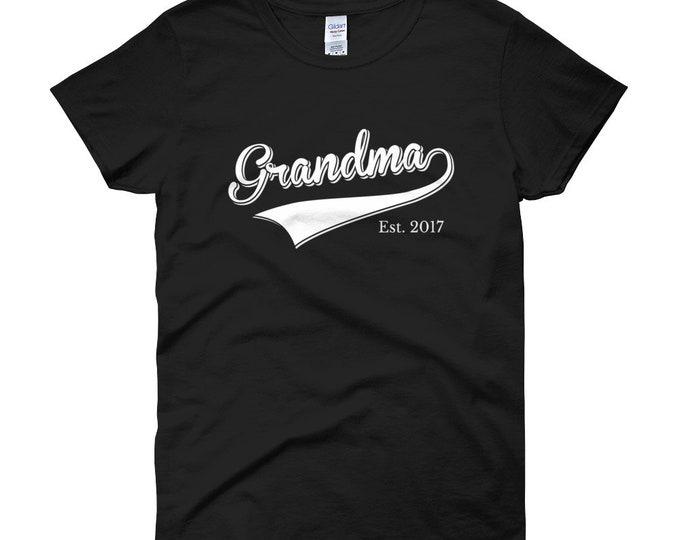 Grandma Est 2017 Grandma Shirt | Grandma Est 2018 | Grandma since 2016 2015 2014 2013 2012 2011 2010 | Women's short sleeve t-shirt