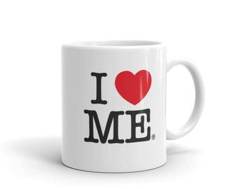 Funny Guy Mugs I Love Me Ceramic Coffee Mug, White, 11-Ounce / 15 oz