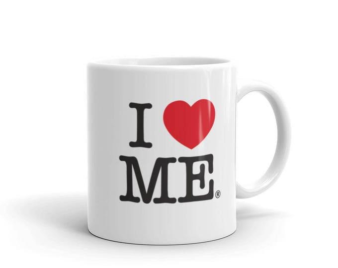 Funny Guy Mugs I Love Me Ceramic Coffee Mug, White, 11-Ounce / 15 oz