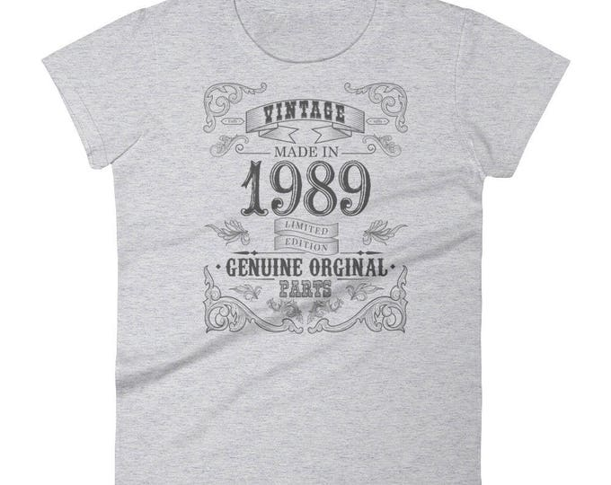 Women's 1989 Birthday Gift, Vintage Born in 1989, 29th Birthday shirt for her, Made in 1989 T-shirt, 29 Year Old Birthday Shirt | BelDisegno