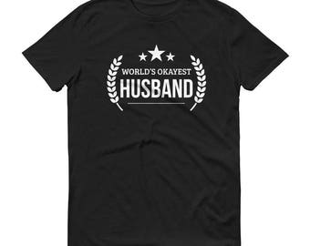 Husband Gift Christmas,  World's Okayest Husband t-shirt - unique birthday gifts for husband, anniversary gift, gift for husband