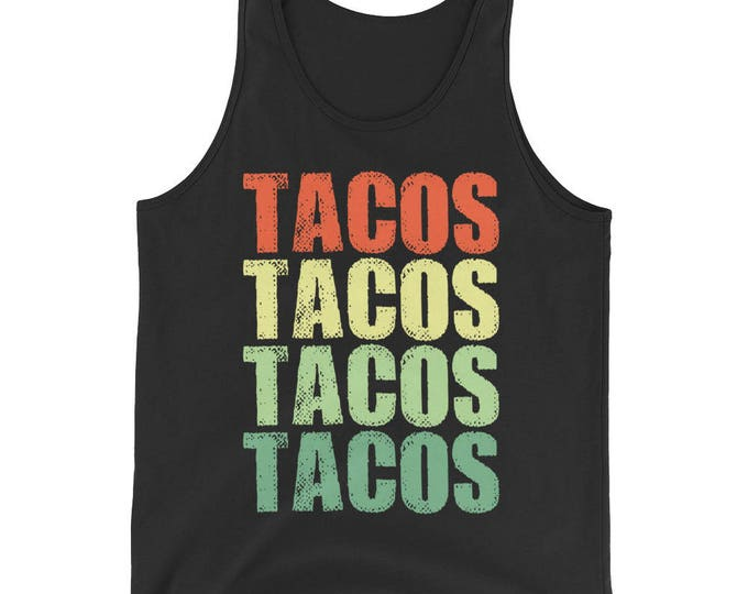 Unisex Tacos Tank Top, taco Tuesday, Taco Party, Funny tacos shirt for him, love tacos