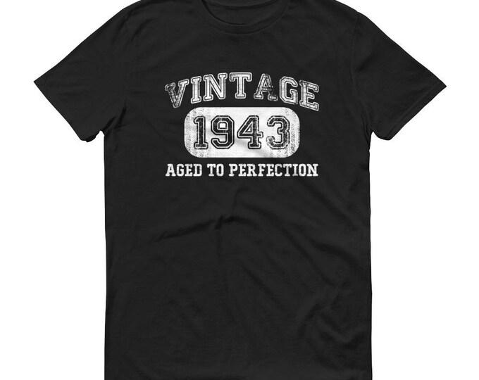 1943 Birthday Gift, Vintage Born in 1943 t-shirt for men, 76th Birthday shirt for him, Made in 1943 T-shirt, 76 Year Old Birthday Shirt