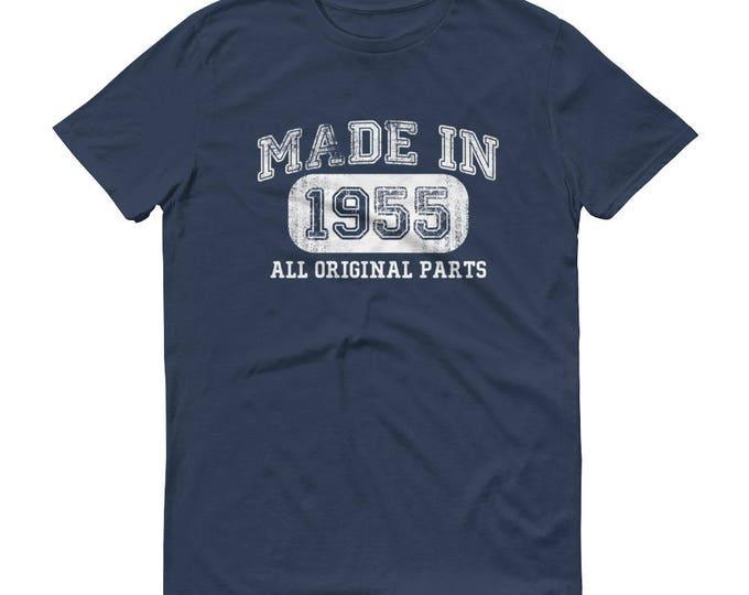 1955 Birthday Gift, Vintage Born in 1955 t-shirt for men, 63rd Birthday shirt for him, Made in 1955 T-shirt, 63 Year Old Birthday Shirt