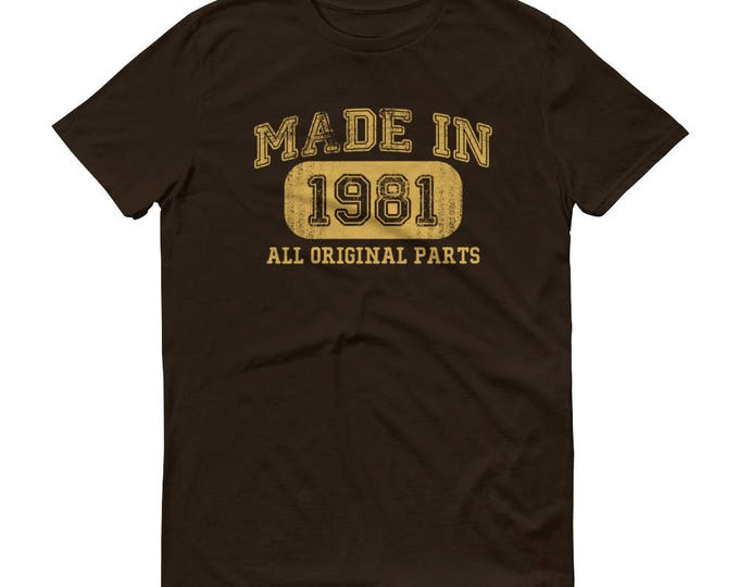 1981 Birthday Gift, Vintage Born in 1981 t-shirt for men, 38th Birthday shirt for him, Made in 1981 T-shirt, 38 Year Old Birthday Shirt