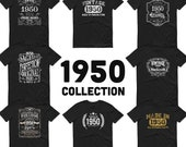 1950 Birthday Gift, Vintage Born in 1950 t-shirt for men, 70th Birthday, Made in 1950 T-shirt, 70 Year Old Birthday Shirt- 1950 Collection