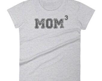 Mom 3 t-shirt - Gift for mother of three kids,  mom 3, mom3, Mom of three, mother of three, mom of 3, mother of 3, 3 kids, three kids