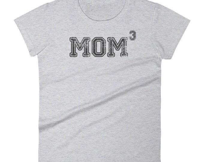 Mom 3 t-shirt - Gift for mother of three kids,  mom 3, mom3, Mom of three, mother of three, mom of 3, mother of 3, 3 kids, three kids