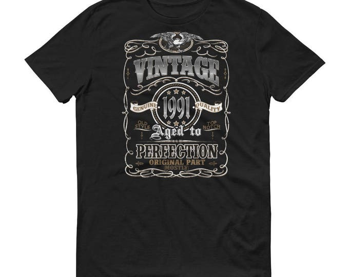 Men's 1991 Birthday Gift, Vintage Born in 1991, 27th Birthday shirt for him, Made in 1991 T-shirt, 27 Year Old Birthday Shirt   BelDisegno