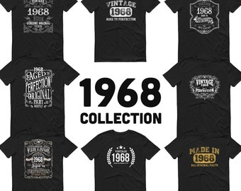 1968 Birthday Gift, Vintage Born in 1968 t-shirt, 53rd Birthday shirt, Made in 1968 T-shirt, 53 Year Old Birthday Shirt - 1968 Collection