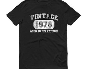 1978 Birthday Gift, Vintage Born in 1978 t-shirt for men, 40th Birthday shirt for him, Made in 1978 T-shirt, 40 Year Old Birthday Shirt