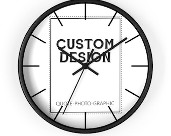 Custom wall clock - Custom Photo Clock   picture frame clock   unique wall clock   Personalized wall clock with saying photo picture image