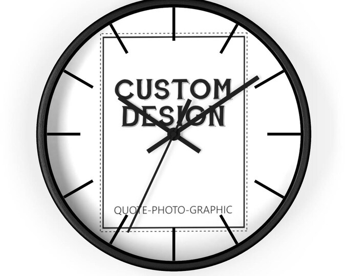 Custom wall clock - Custom Photo Clock | picture frame clock | unique wall clock | Personalized wall clock with saying photo picture image