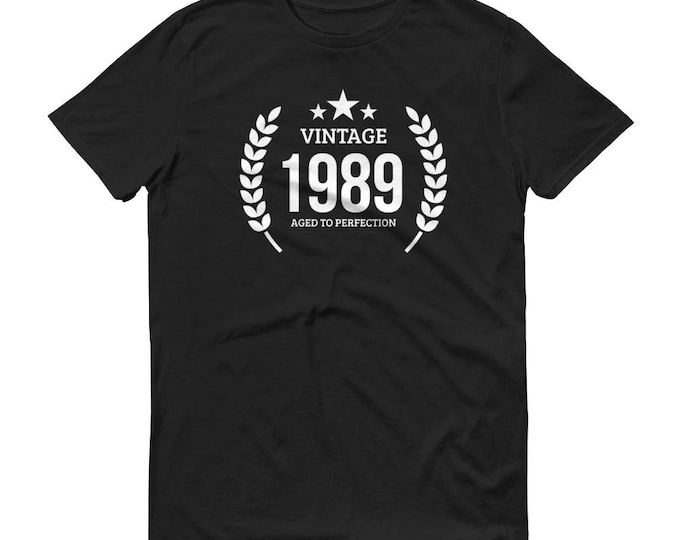 1989 Birthday Gift, Vintage Born in 1989, 30th Birthday shirt for him, Made in 1989 T-shirt, 30 Year Old Birthday Shirt