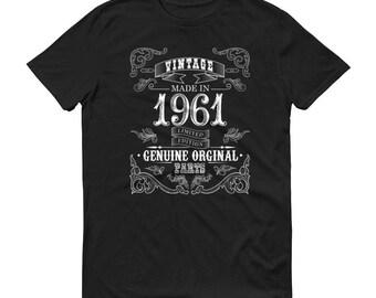 1961 Birthday Gift, Vintage Born in 1961 t-shirt for men, 58th Birthday shirt for him, Made in 1961 T-shirt, 58 Year Old Birthday Shirt