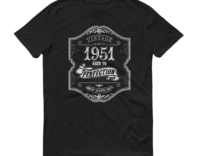1951 Birthday Gift, Vintage Born in 1951 t-shirt for men, 68th Birthday shirt for him, Made in 1951 T-shirt, 68 Year Old Birthday Shirt
