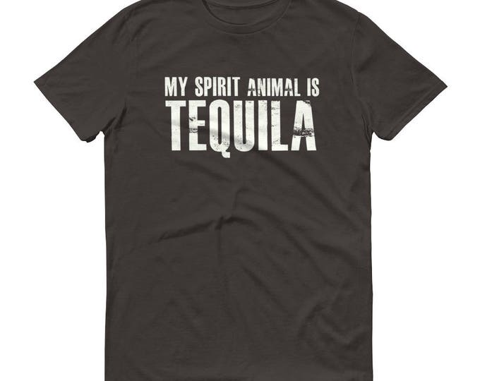 My spirit animal is tequila t-shirt, Tequila Shirt, funny drinking shirt, tequila shirt, tacos and tequila, funny tequila shirt