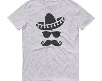 Mexican Hat Mustache T-shirt Cinco de Mayo Party Shirt