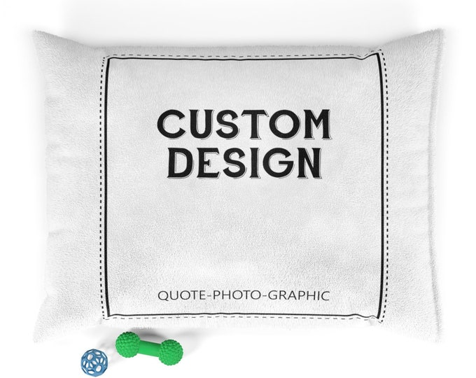 Custom Pet Bed Custom Dog Bed - Custom Photo Pet Bed - Photo gifts - Personalized Pet Pillow - Personalized Pet Bed Custom Dog Bed Pillow