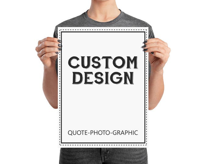 Graphic Design Poster  - Custom poster Design - Graphic Design Poster