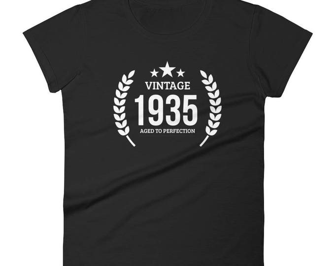 1935 Birthday Gift, Vintage Born in 1935 t-shirt for women, 83rd Birthday shirt for her, Made in 1935 T-shirt, 83 Year Old Birthday Shirt