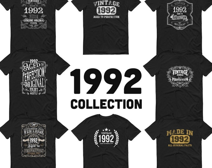 1992 Birthday Gift, Vintage Born in 1992, 28th Birthday shirt for him, Made in 1992 T-shirt, 28 Year Old Birthday Shirt 1992 Collection
