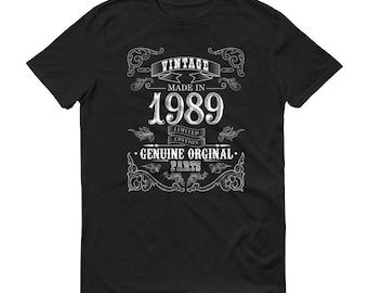 Men's 1989 Birthday Gift, Vintage Born in 1989, 29th Birthday shirt for him, Made in 1989 T-shirt, 29 Year Old Birthday Shirt