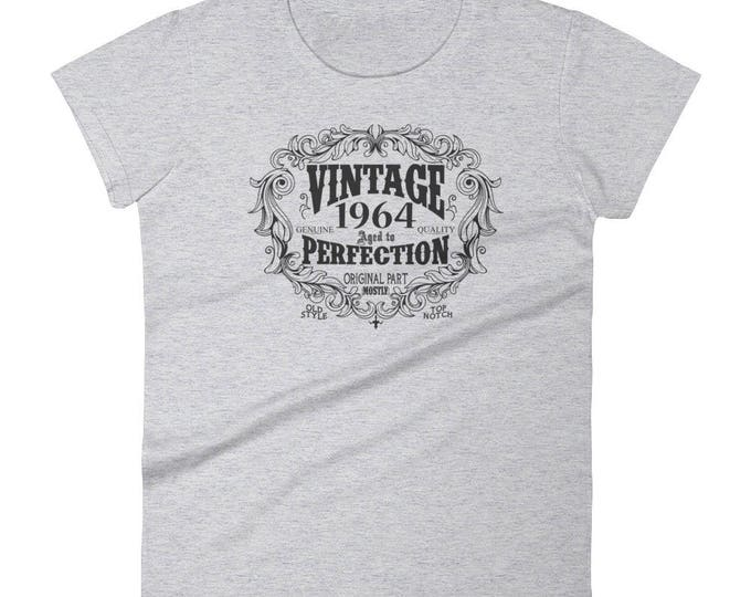 1964 Birthday Gift, Vintage Born in 1964 t-shirt for women, 55th Birthday shirt for her, Made in 1964 T-shirt, 55 Year Old Birthday Shirt