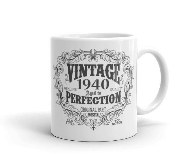 born in 1940 mug, 80 years old Coffee Mug, Birthday Gift for Men Women, 80th birthday gift, 1940 birthday gift for him her