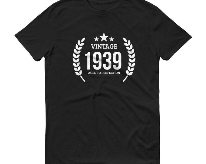 1939 Birthday Gift, Vintage Born in 1939 t-shirt for men, 80th Birthday shirt for him, Made in 1939 T-shirt, 80 Year Old Birthday Shirt