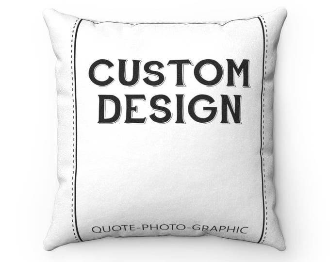 Personalized Faux Suede Square Pillow Case - Custom Pillow case with saying / name / dog / cat / photo / for girls / kids / boys
