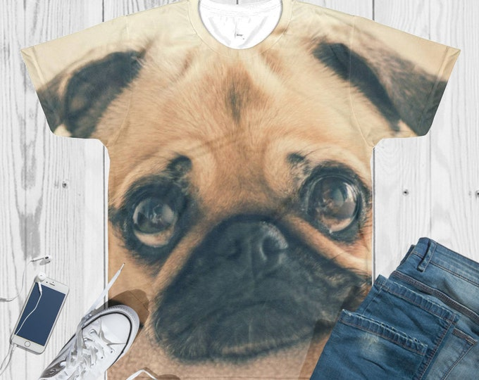 Custom All-Over Cut & Sew Men's T-shirt -Personalized Printed T-Shirt - Custom Sublimation T-Shirt - custom dog picture shirt