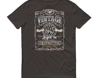 1943 Birthday Gift, Vintage Born in 1943 t-shirt for men, 75th Birthday shirt for him, Made in 1943 T-shirt, 75 Year Old Birthday Shirt