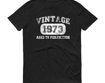 1973 Birthday Gift, Vintage Born in 1973 t-shirt for men, 46th Birthday shirt for him, Made in 1973 T-shirt, 46 Year Old Birthday Shirt