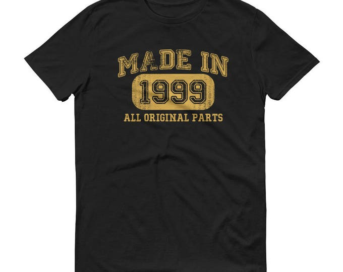 1999 Birthday Gift, Vintage Born in 1999, 20th Birthday shirt for Him, Made in 1999 T-shirt, 20  year old birthday gift