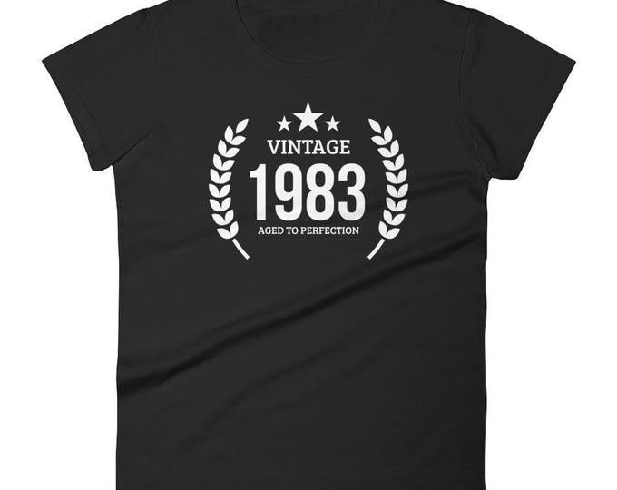 1983 Birthday Gift, Vintage Born in 1983 t-shirt for women, 35th Birthday shirt for her, Made in 1983 T-shirt, 35 Year Old Birthday Shirt