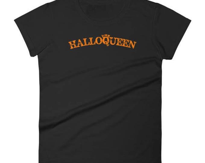 Halloqueen Shirt Funny Halloween Shirt For Women & Girls