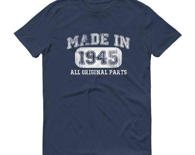 1945 Birthday Gift, Vintage Born in 1945 t-shirt for men, 73rd Birthday shirt for him, Made in 1945 T-shirt, 73 Year Old Birthday Shirt